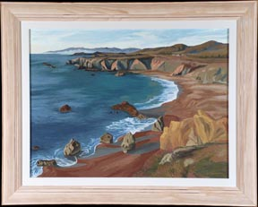 Schoolhouse Beach LL Sorensen with frame