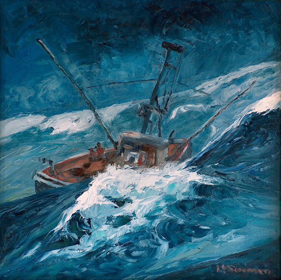 Linda Sorensen Bodega Bay Salmon Trawler Rough Seas