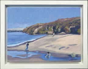 Linda Sorensen Campbell Cove with white floater frame