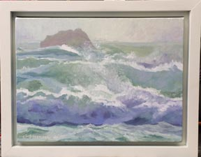 Linda Sorensen Dashing Waves with frame
