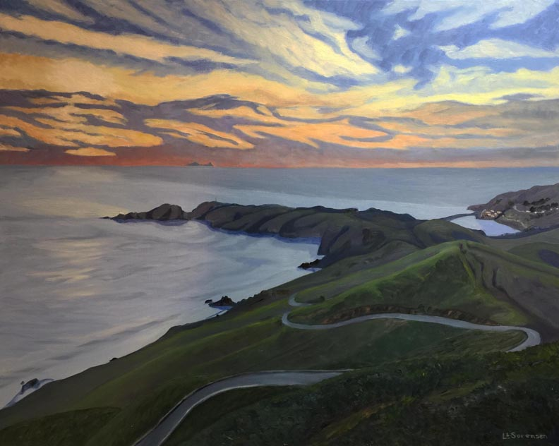 Linda Sorensen Hawk Hill to Point  Bonita and the Farallons