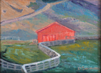 Linda Sorensn Red Barn and Fences