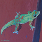 Linda Sorensen Gecko on my Fence Thumbnail