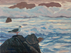 Linda Sorensen Gull in Evening Surf Thumbnail