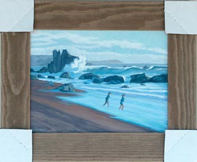 Linda Sorensen Lovers Rocks with frame and protected corners