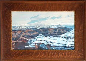 Linda Sorensen Snowclouds Grand Canyon with Quarter Sawn Oak Frame